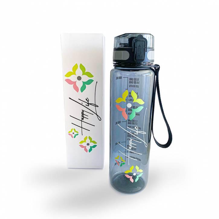 Happy Life - Premium Trinkflasche