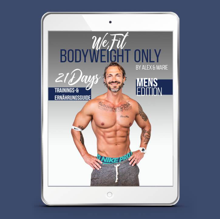 WeFit Bodyweight Only – DAS EBOOK MÄNNER EDITION