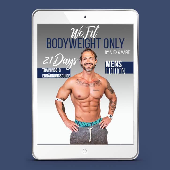 WeFit Bodyweight Only – DAS EBOOK MÄNNER EDITION