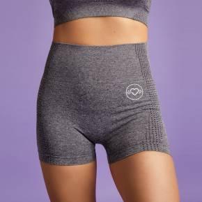 Heart & Motion - Seamless Basic Pants Short STONE GREY